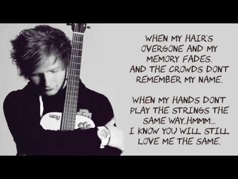Ed Sheeran – Thinking Out Loud Lyrics With Music