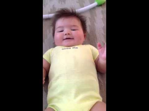 Baby laughing out loud, funny