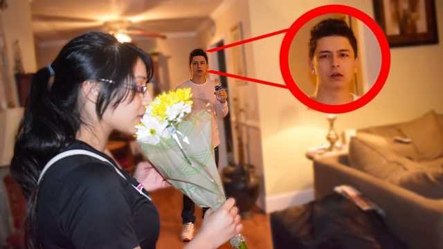 Coming Home With Flowers Prank On Boyfriend!!