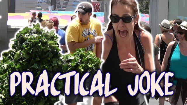 Funny Practical Joke – Bushman Scare Prank – Combined Episodes – Las Vegas – Funny Video Ryan Lewis