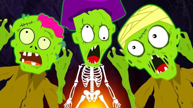 Five Funny Zombies Jumping On The Grave | Zombie Family – Funny Halloween Songs For Children