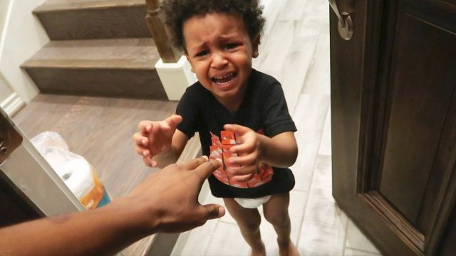HOME ALONE PRANK ON 2 YEAR OLD!! (He Cried)