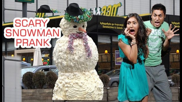 SCARY SNOWMAN PRANK 2018 – Hidden Camera Practical Joke