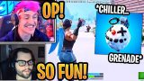 Streamers First Time Using *NEW* Chiller Grenade! – Fortnite Best and Funny Moments