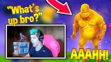 NINJA FUNNY REACTION AFTER ZOMBIE SCARES HIM! Fortnite Funny Daily Moments