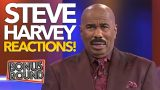 Classic STEVE HARVEY REACTIONS On Family Feud! These Are TOO FUNNY!