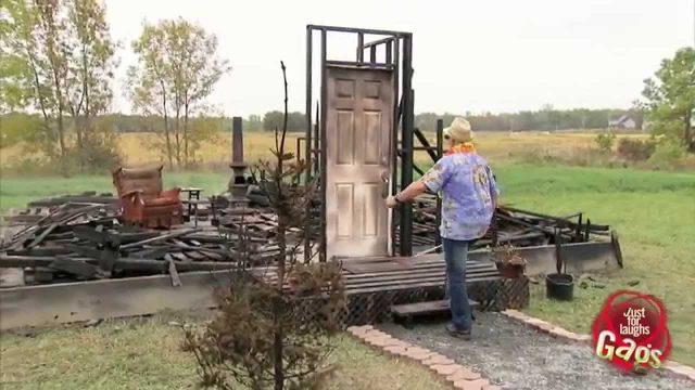 Blind Man Burned House Prank